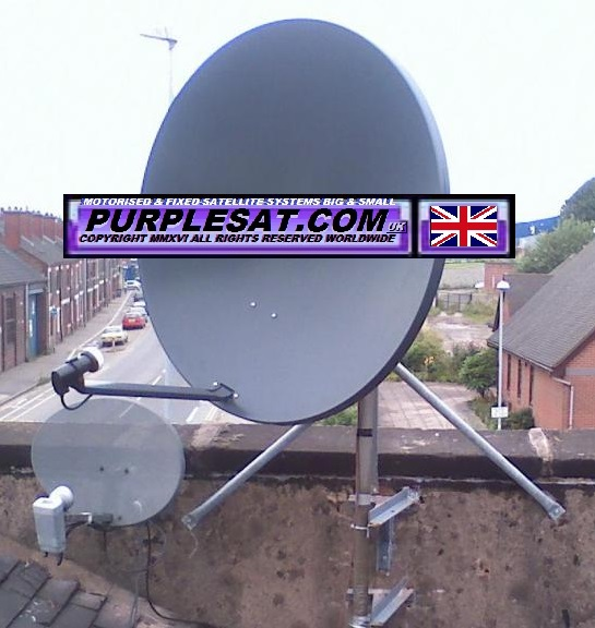 1-1 MOTORISED SATELLITE DISH - PURPLESAT