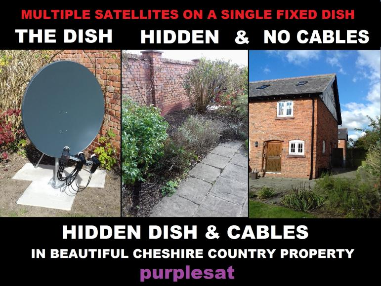 cheshire_country_hidden_dish_and_cables 9E 19.2E 28.2/5E - 10 SATEKLITE CABLES PLUS RF