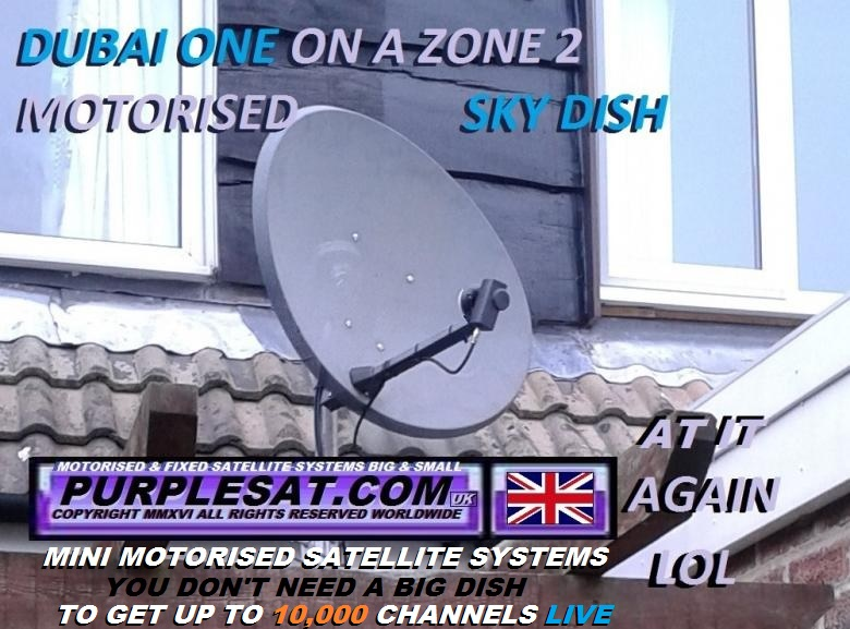 PURPLESAT.COM'S MINI MOTORISED SATELLITE DISH