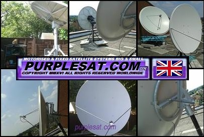 Some of the larger dishes for broadcast feeds, football & enthuiasts