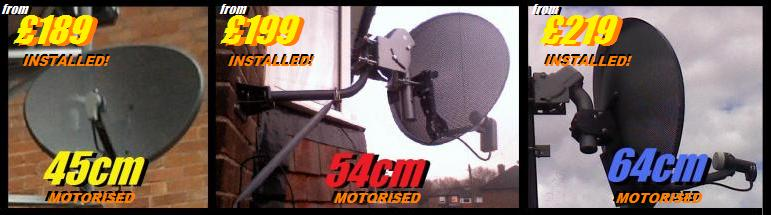 45cm 54cm 64cm motorised sky dishes 10aaaa