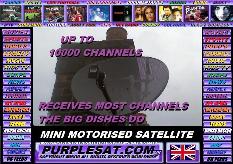 PURPLESAT.COM'S MINI MOTORISED SATELLITE SYSTEM